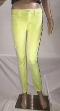 Cello Jeans Skinny Jeans Fluorescent Yellow Sexy Ankle Pants Casual - Size 3