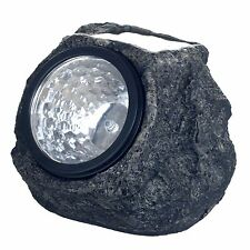 Set of 4 LED Solar Landscaping Lights that Look Like Rocks