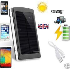 Portable External 20000mAh Dual USB Solar Battery Charger Power Bank For Phone