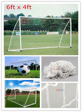 6x4ft Flexible Soccer Football Goal Post Net For Sports Match Training practise