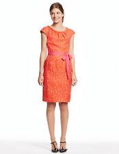 BODEN  New Putney Silk Mix Dress - Orange/Pink - UK 8 R