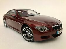 Kyosho BMW M6 E64  Indianapolis Red  1/18 Dealer Edition