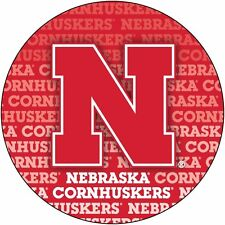 "NEBRASKA 4"" REPEAT DESIGN MANGET-NEBRASKA CORNHUSKERS CAR MAGNET-NEW FOR 2016!"