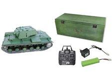 RC Panzer KV-1 (KW-1) R&S/2.4GHZ/Holzbox Metallketten/Metallgetriebe/QC 23050