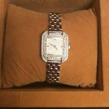 SWISS 18K WHITE AND DIAMOND WATCH with appraisal 13800$