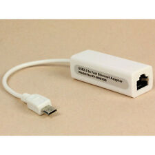 Micro 5 pines USB To RJ45 10/100M Ethernet Lan Tarjeta para SamsungTable PC