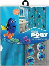 Disney Finding Nemo's Dory Polyester Shower Curtain & Hooks Bath Tub Set