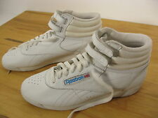 Vintage Reebok Womens Freestyle High top White Classic Velcro Size 7.5 Excellent