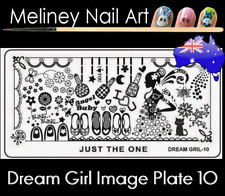Dream Girl 10 Stamping Nail Art Image Plate Design Rectangle XL Stencil metal