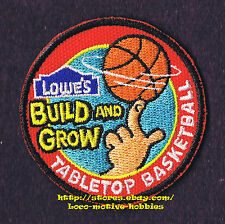 LMH PATCH Badge  TABLETOP BASKETBALL    LOWES Build Grow Project Series Kid's
