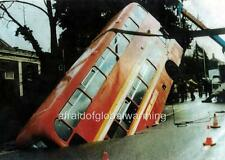Photo. 1980s. Norwich, UK. Bus Accident On Earlham Road - Fell Into Hole