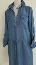 BNWT STUNNING ZARA WOMAN DENIM BELL SLEEVE SHORT TUNIC DRESS SHIRT, XS $79.00