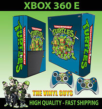 XBOX 360 E CLASSIC TEENAGE MUTANT RETRO TURTLE 90'S STYLE STICKER SKIN