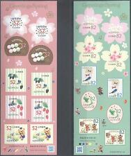 JAPAN 2016 SPRING GREETING STAMPS SELF-ADHESIVE SHEETS MNH VERY FINE