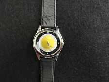 Men's Quartz Watch with a Yellow Tennis Ball on the Dial