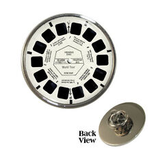 Toy Viewing Wheel Design Pin Badge Retro 3D Disc Brand New