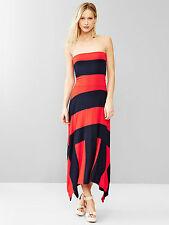 NEW GAP RED & NAVY STRIPED 4 IN 1 TRAPEZE MAXI DRESS SZ XL EXTRA LARGE