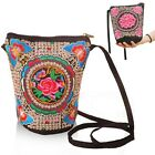 Thai Indian Hmong Boho Hobo Ethnic Embroidered Shoulder Purse Messenger Bag D58