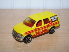 Matchbox Ford Expedition Rescue Mountain Patrol Yellow 1:64