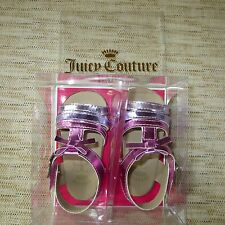 JUICY COUTURE PINK PURPLE METALLIC BABY SANDALS-SIZE 3 (6-9) MONTHS-$58+