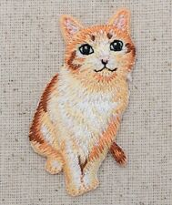 Orange Tabby Cat -Pets - Natural - Iron on Applique/Embroidered Patch