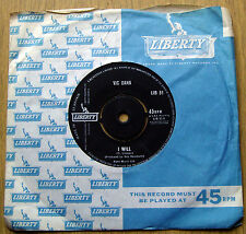 "VIC DANA-I WILL/PROUD-EX.RARE ORIG.UK LIBERTY 7""SINGLE-A1N/B1N-1962"