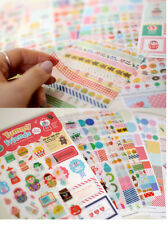 Yummy Friend calendar Filofax Schedule Notebook Deco Diary Sticker 12sheets set