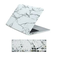 "White Marble Matte Hard Case + Keyboard cover for Macbook Air 13"" A1369 & A1466"