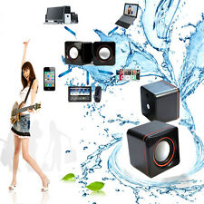 1 Paire Mini USB Computer PC Audio Sounder Speaker carré Style Amplificateur