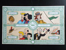 RARISSIME Planche d'autocollant BOB DE MOOR  48 81 00 Billet Lotto 1988
