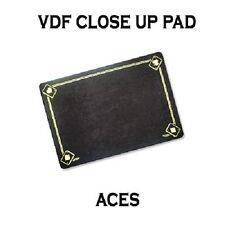 VDF BLACK Printed with Aces Magicians Matt Pad Mat card close up Magic trick