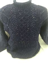 Thomas Keeling Cable knit Fishermen Ski Wool sweater Medium Made England unisex