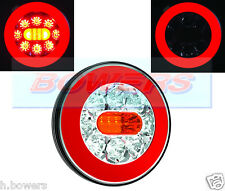 12V/24V GLOW RING LED REAR CHEESEBURGER TAIL LAMP LIGHT TRUCK VAN LORRY TRAILER