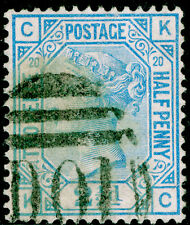 Sg142, 2½d blue plate 20, good used. Cat £45. KC