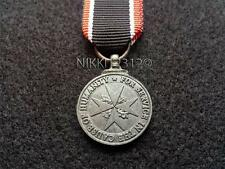 MINIATURE ORDER OF ST JOHN LIFE SAVING MEDAL WITH RIBBON