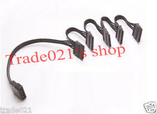 4 Pin IDE Molex to 5 Serial SATA Hard Drive Power Adapter Cable Wire