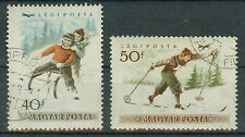 Briefmarken Ungarn 1955 Wintersport Mi.Nr.1409+10