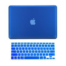 """2 in1 ROYAL BLUE Rubberized Case for Macbook Pro 13"""" A1425 Retina display +Key"""