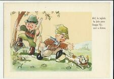 humor cartolina umoristica  sulla caccia cacciatori cacciatore .