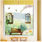 Window Chair Rural Butterfly WALL STICKERS REMOVABLE HOME DECAL Art Vinyl DECOR