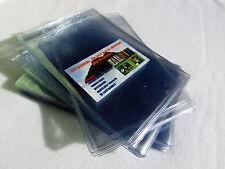 50 bolsillo plástico PVC extra grande cartera, ID Card Pass, Porta Pasaporte, Vertical