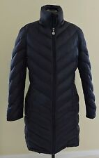 CALVIN KLEIN Packable Lightweight Premium Down Womens M Long Black Puffer Coat