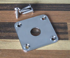 Chrome Flat Bottom Jack Plate Square Jackplate for Gibson Style Les Paul