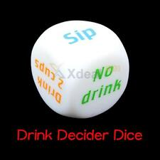 XD#3 New Drink Decider Die Games Bar Party Pub Dice Fun Funny Toy Drinking Game
