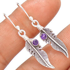 Native American Reproduction  Amethyst  Sterling Silver Earring  SE140331