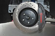 15-17 Mustang GT with Brembo Front StopTech Cross Drilled & Slotted Brake Rotors