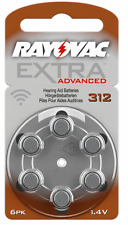 60 Rayovac Extra Hearing Aid Batteries Size 312AE Super Fresh Expire 2019