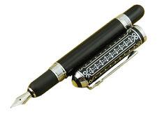 Duke 669 Fountain Pen Little Flower Cap Black Carbon fiber Barrel