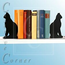 CAT BOOKENDS. Cat shape book ends. CAT LOVERS GIFT. Cat design book holder.