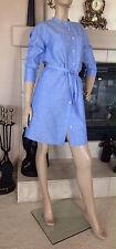 UNIQLO WOMEN LINEN COTTON 3/4 SLEEVE DRESS COLOR BLUE NWT SIZE S